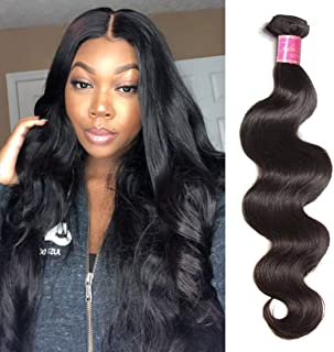 Ali Julia Hair 10A Brazilian Body Wave One Bundle Unprocessed 100% Virgin Human Weave Hair Extensions Natural Black Color 12 Inch