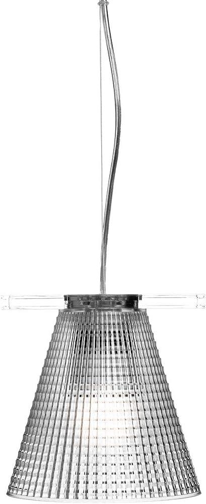 Kartell light air lampada a sospensione, versione sculturata, transparente(cristallo) 9130B4