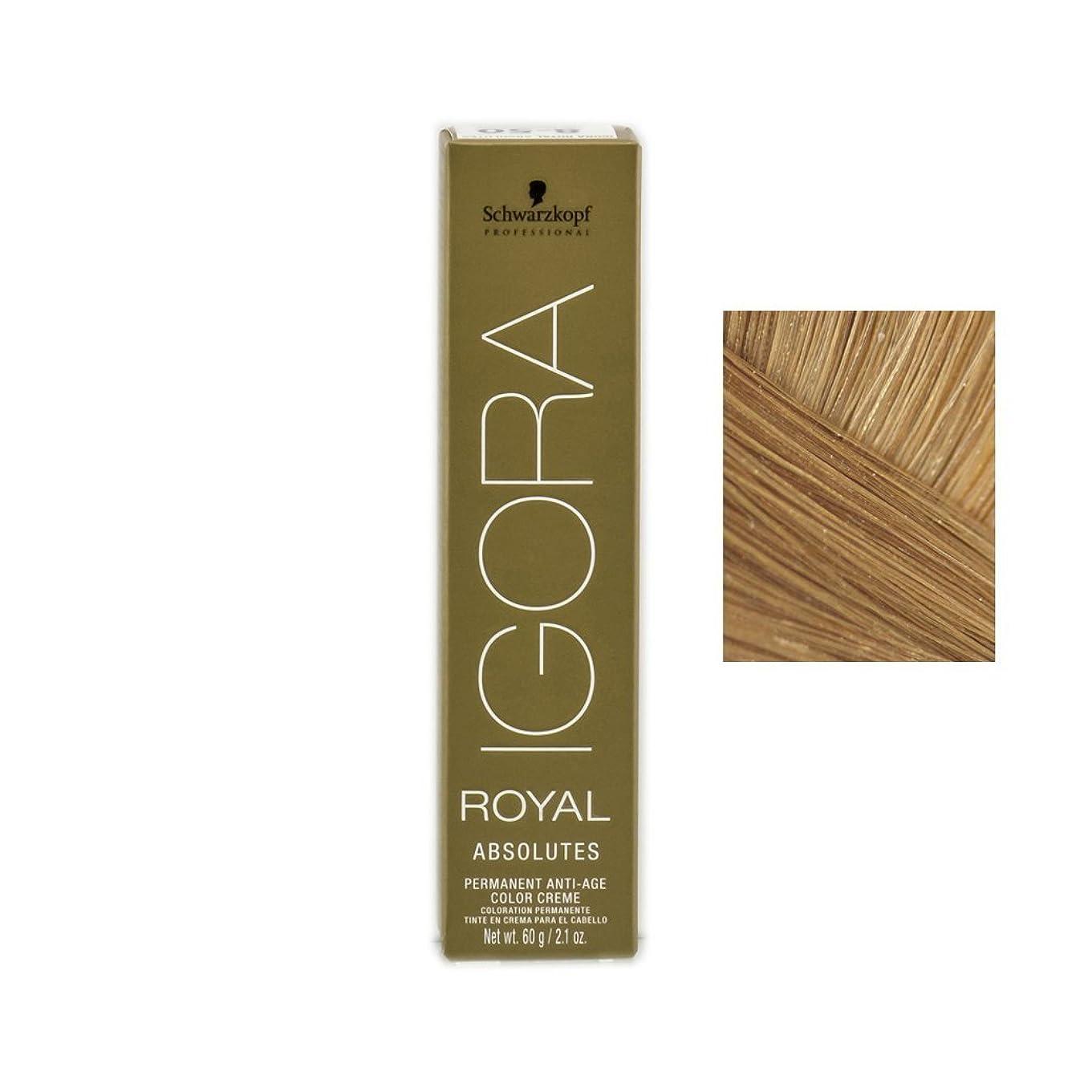 決して実り多い抱擁Schwarzkopf プロフェッショナルIGORAロイヤルアブソリュート髪の色、 2.1オンス 9-60、エクストラライトオーバーンナチュラルブロンド