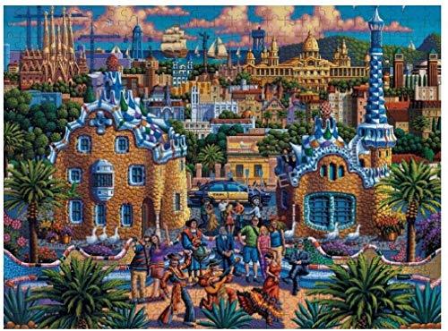 Bernice Winifred Jigsaw Puzzle Barcelona Juego de Rompecabezas de Madera de Juguete para Adultos y niños, EducationalPuzzleGameGift, 500 Piezas 52 × 38cm (20.47 '' × 14.96 '')