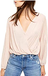 Free People Check on It Wrap Top Pink Nectar L
