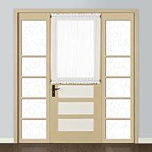 لوحات معالجة نافذة United Curtain Monte Carlo window-Treatment، 59 × 72، أبيض