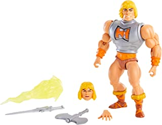 Masters of The Universe Origins Deluxe He-Man 5.5-in Action Figure, Battle Character for Storytelling Play and Display, Gi...