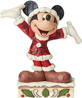Disney Tradition by Jim Jore Christmas Mickey, Resin, Multi-Colour, One Size