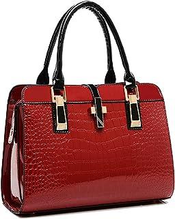 حقيبة كتف لون احمر للنساء