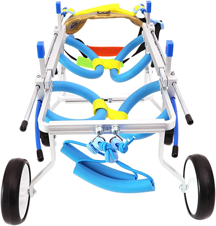 Pereclan Lightweight Aluminum Dogpy Doggie Comfortable Legs Hurt Cart Wheelsedia XSWiden