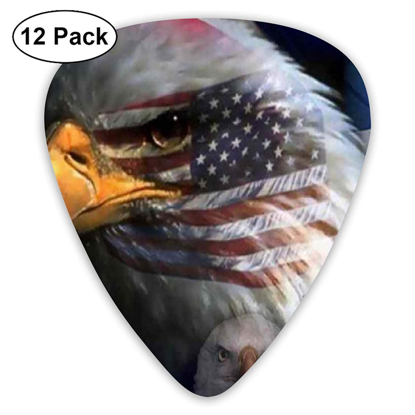 351 Shape Classic Guitar Picks American Eagle Flag Plectrums Instrument Standard Bass 12 Pack