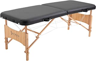 SierraComfort Basic Portable Massage Table, Black