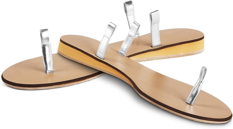 Pavilion-Size 10 Tuso Silver Flat Sandals
