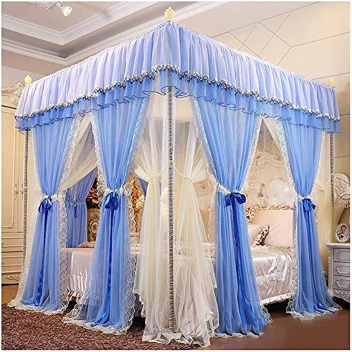 SETSCZY - Cama con dosel mosquitera para cama o cama, diseño de reina, diseño de encaje para dormitorio, A, 180 x 200 x 210 cm