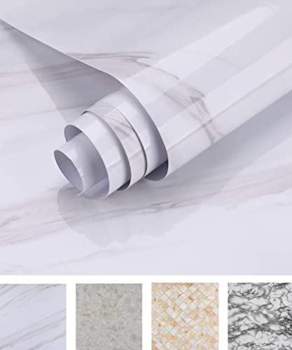 Oxdigi Marble Contact Paper 24 x 196 inches Self Adhesive Peel & Stick Wallpaper for Kitchen Countertop Cabinet Furni...