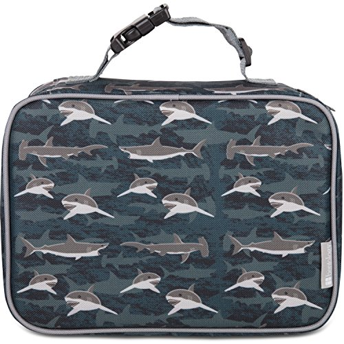 Insulated Durable Lunch Box Sleeve - Reusable Lunch Bag - Securely Cover Your Bento Box, Works with Bentology Bento Box, Bentgo, Kinsho, Yumbox (8'x10'x3') - Shark