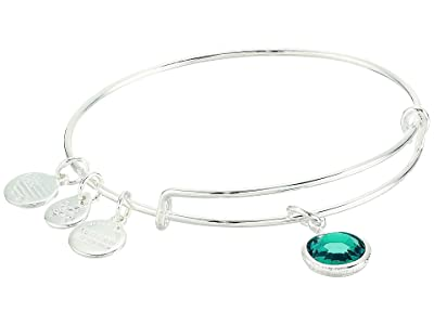Alex and Ani Swarovski Color Code Bangle Bracelet (December/Blue Zircon Color/Shiny Silver) Bracelet