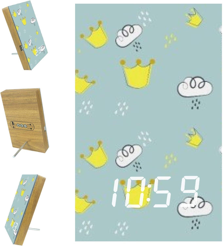 AISSO Spasm price Crown Cloud Over item handling LED Alarm Kitchen Clocks Digital for Bedrooms