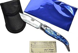 Couteau Celaya Classic Albacete Aluminium Pastora Plastique Blue Marine n 2