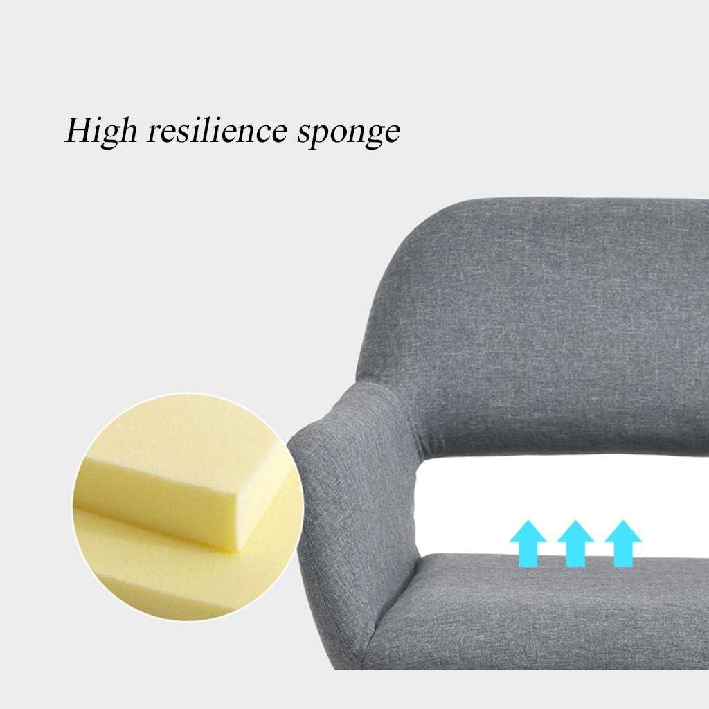Chaises de salle à manger, Chaise de Loisirs, Tabouret de Bureau avec Dossier, éponge à Rebond Haut, Pieds en Bois Massif, Charge maximale 200 kg, Format 17