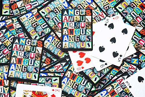 Personalized Playing Cards featuring any name in letters from photos of actual signs