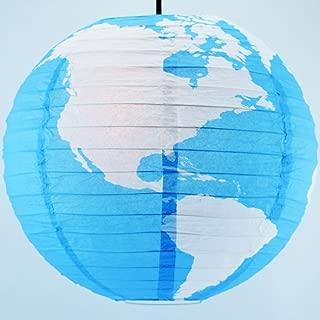 Quasimoon PaperLanternStore.com 14 Inch Greater Detailed World Earth Globe Paper Lantern