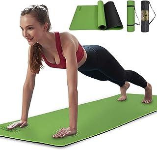 ヨガマット人気 6mm tpe 183*61cm トレーニングまっとストレッチマット ヨガ ピラティスマット滑り止め 初心者適用 収納ケース付yogamat