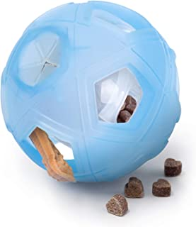 LumoLeaf Dog Treat Ball,Interactive IQ Treat Dispensing Ball Toy with Adjustable Difficulty Setting for Small to Medium Dogs and Cats.