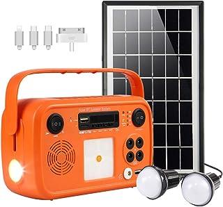 soyond Portable Solar Generator with Solar Panel Solar Powered Generator Kit with Flashlights Bluetooth, MP3 Player, FM Ra...
