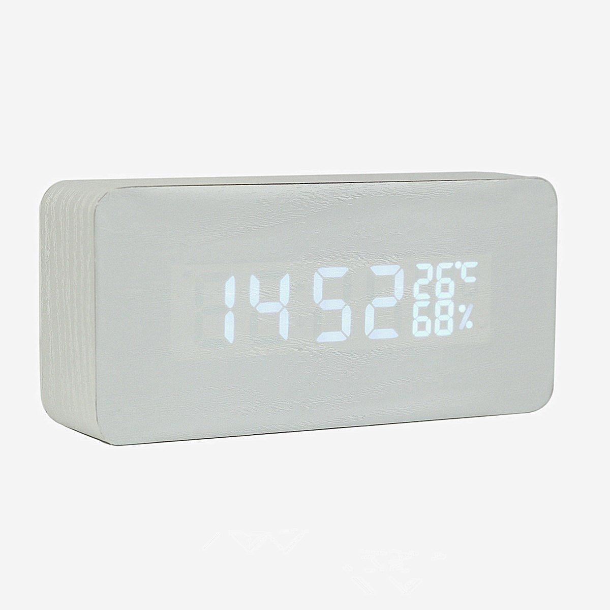 Alarma clcok Home Moderno individuales Alarma estudiantes Madera alarma de botón el dormitorio de escalera de