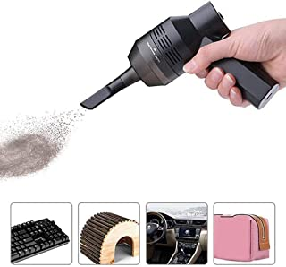 Portable Car Vacuum Cleaner,Wireless Keyboard Air Dust Collector And Blower Cleaner 2-In-1 Handheld Cordless USB Charging,...