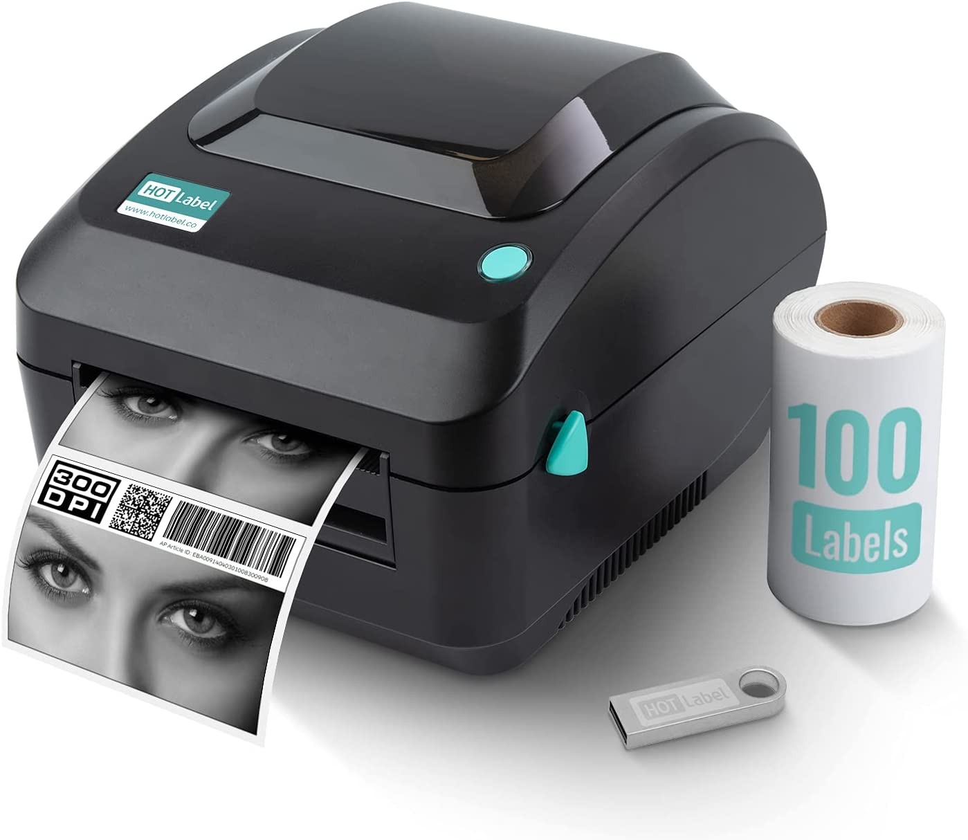 HotLabel 300 Austin Mall DPI Shipping Label Printer 4x6 Direct A300 Max 61% OFF Thermal