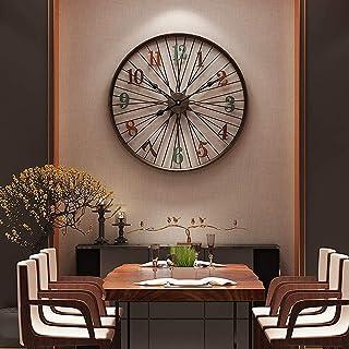 SONGYU 60Cm Rétro Horloge Murale Vélo Roue Personnalité en Métal Antique Horloge Murale Salon Créatif Horloge Silencieuse ...