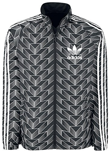 adidas Soccer Rev Wb, Giacchetto Reversibile Uomo, Nero (Nero/Bianco), S