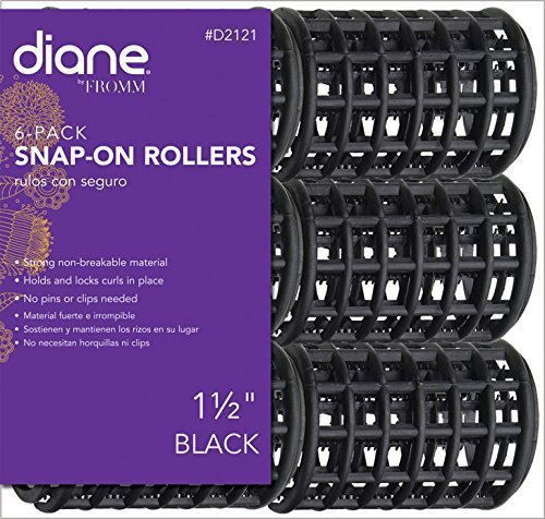 Diane Black Snap On Rollers - 1 1/2\