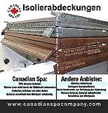 Canadian Spa hochwertige Whirlpool Isolierabdeckung, energiesparend, braun, 208cm x 208cm -