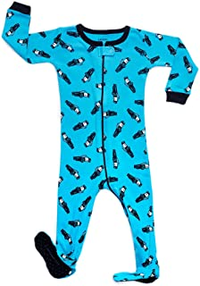 Baby Boys Footed Pajamas Sleeper 100% Cotton Kids & Toddler Owl Pjs (6 Months-5 Toddler)