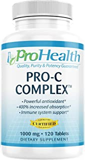 ProHealth Pro-C Complex™ (1000 mg, 120 Tablets) (Vitamin C with Bioflavonoids, Acerola, Rose Hips and Rutin)