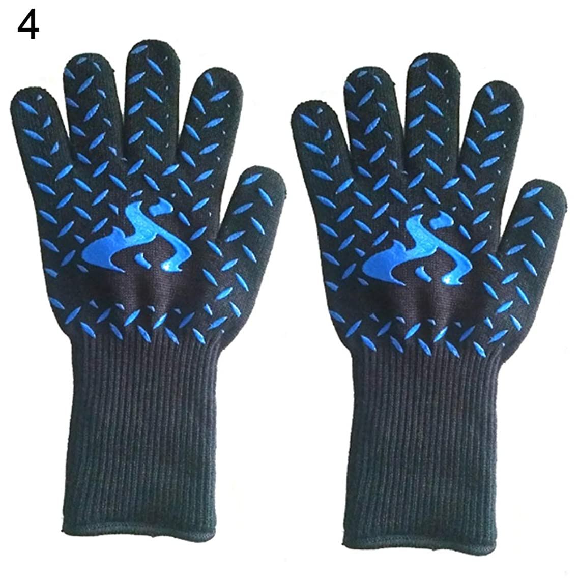 2Pcs Kitchen High Temperature Resistant Glove Waterproof Forearm Protection Use As Oven Mitts, Pot Holders, Heat Resistant Gloves for Grilling 4