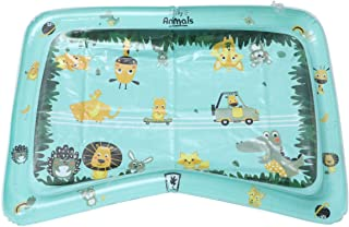 BESPORTBLE Tummy Time Baby Water Mat Inflatable Play Mat Infant Toy for 3 6 9 Months Newborn Boy Girl Play Creeping Swatting Cushion Square 80X60CM