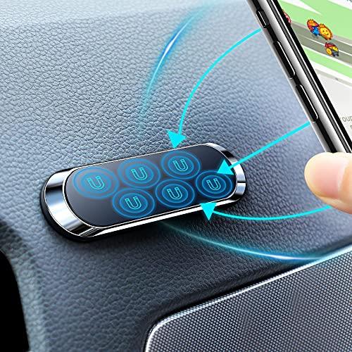 Magnetische KFZ-Handyhalterung, leistungsstark, magnetische KFZ-Halterung, tragbare Mini-Metall-Handyhalterung, KFZ-Halterung für iPhone, Samsung, Huawei, Sony, Moto GPS-Gerät usw. (weiß)