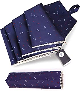 SEHOO晴雨兼用傘 UV レディース かわいい 自動 開閉 軽量 折り畳み傘 大きい 軽量楽々 耐強風 超撥水 収納ポーチ付き おしゃれ(ブルー)