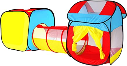 38710017ba99c5 biggroup Tente Tunnel de Culture pour Enfant avec 1 Tunnel et 2 Cubes Pop-up
