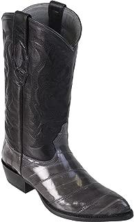 Genuine EEL Skin Grey J-Toe Los Altos Men's Western Cowboy Boot 990809