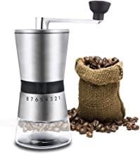 Coffee Grinder Stainless Steel Hand Crank Grinding Conical Ceramic Coffee Grinder Manual Coffee Grinder Mill with Ceramic Burrs