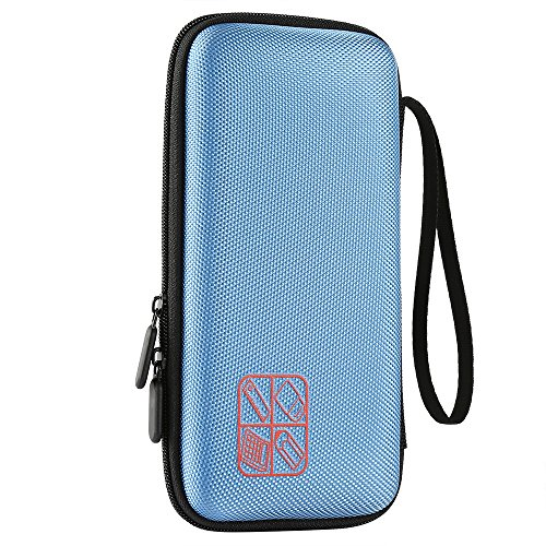 Faylapa Carrying Case Storage for Graphing Calculator Texas Instruments TI-83 Plus TI-84 Plus CE EVA Case Travel Bag Protective Pouch (Blue) Photo #6