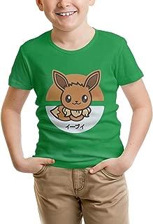 PUTIEN Deer Decor Decor Childrens Short Sleeve Cool T-Shirt,Polyester,Modern Artsy Ill
