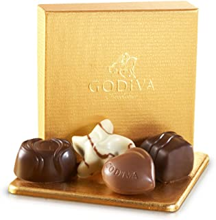 Godiva Chocolatier Gold Ballotin Assorted Chocolate Favor Gift Box, Chocolate Wedding Favors, Birthday Favors, 4 pc