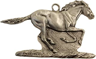 Gorgeous Running Horse Mustang Christmas Ornament Medallion Hanging Charm Wild Thorsen Montana
