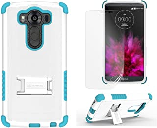 Beyond Tri-Shield Case for LG V10 - Retail Packaging - White/Light Blue