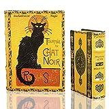 LE CHAT NOIR by Steinlen Black Cat Secret Book Box Set Jewelry Keepsake Trinket Box Tournee du Chat Noir Comes with Two Book Boxes