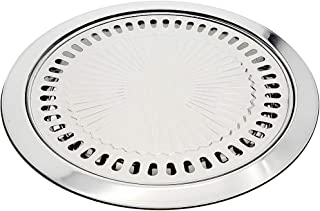 Saim Stainless Steel Griddles Round Bakeware Household Ovenware Outdoor Barbecue Tray Suitable for Any Stove That Can Generate Heat BBQ Grill Pans