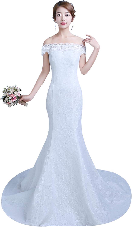 Clover Bridal Elegant Off Shoulder Wedding OFFer Limited time sale Lace wi Dress Mermaid
