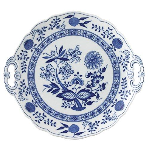 Hutschenreuther 02001-720002-12841 Plat à gâteau Rond, Porcelaine, Bleu, 28,8 x 27,8 x 3,8 cm